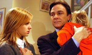 'Some of the biggest moments on British TV' ... Richard Hillman (Brian Capron) and Sarah Platt (Tina O'Brien).