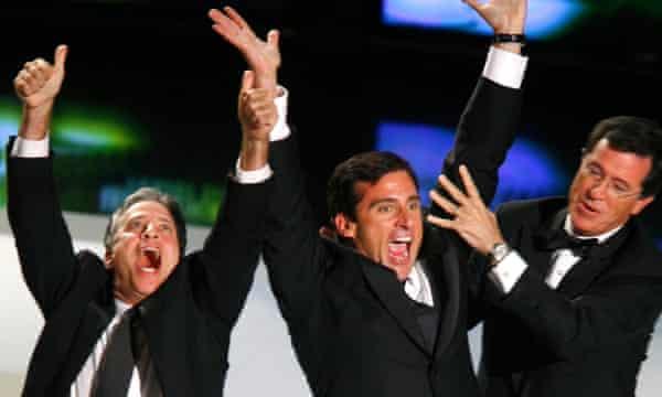 Jon Stewart, Steve Carell and Stephen Colbert
