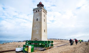 Rubjerg Knude as it is moved away from the North Sea.
