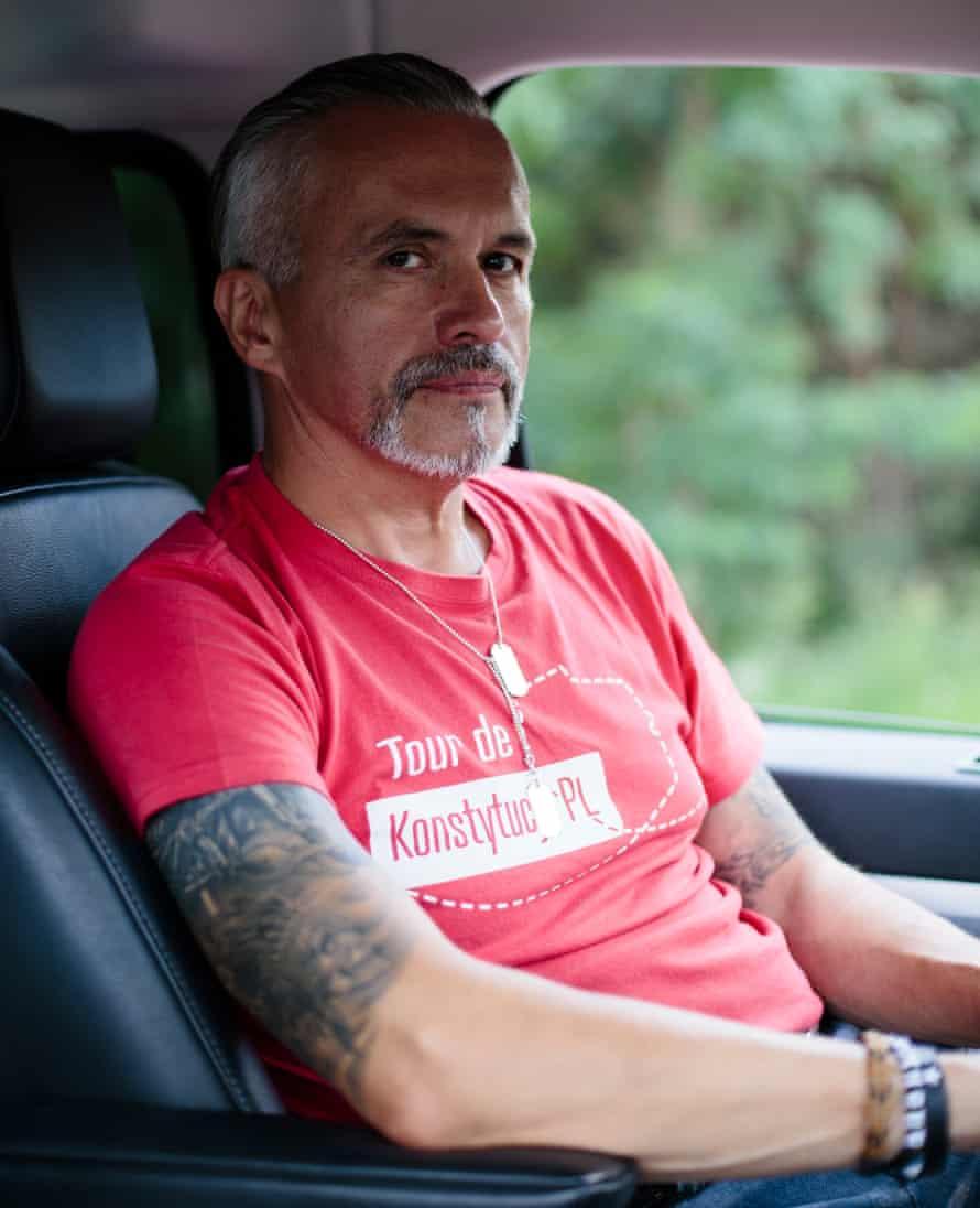 Robert Hojda in driver's seat.