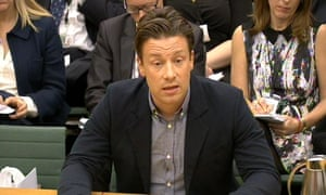 Jamie Oliver answers questions in front of the health select committee.