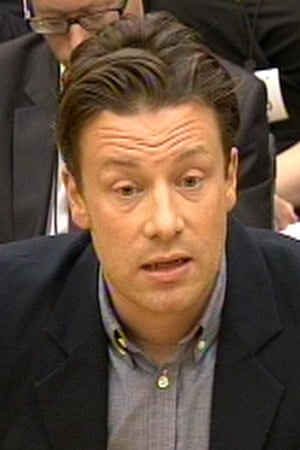 Jamie Oliver gives evidence to the Commons health select committee.