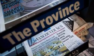 Two of Postmedia Network's newspaper titles.