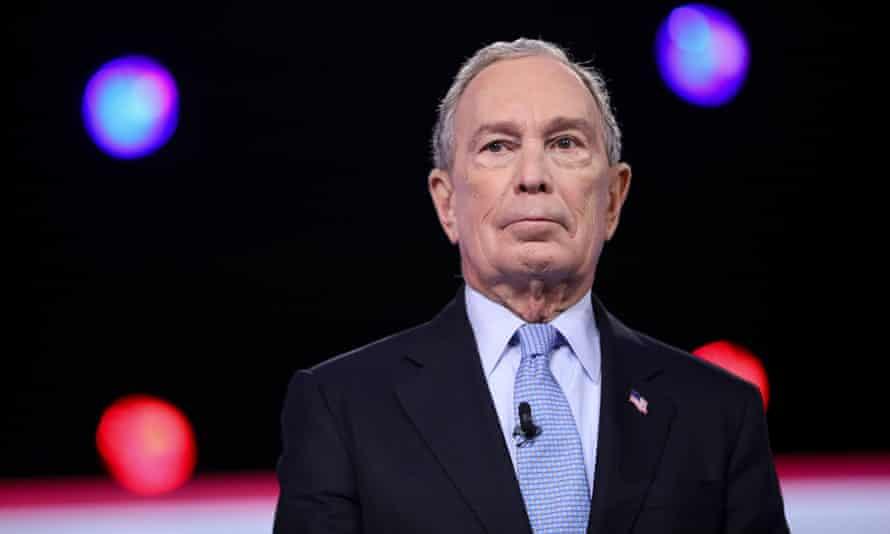 Mike Bloomberg in Charleston, South Carolina, on 25 February.