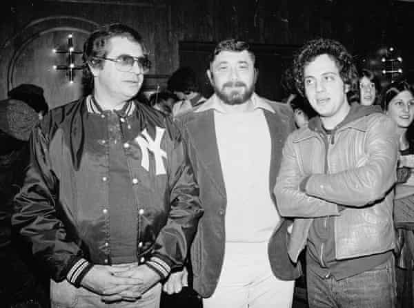 With producer Phil Ramone and Billy Joel, December 1977.