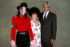 'I suggested they jump on each other's backs' … Michael Jackson, Elizabeth Taylor and Nelson Mandela.