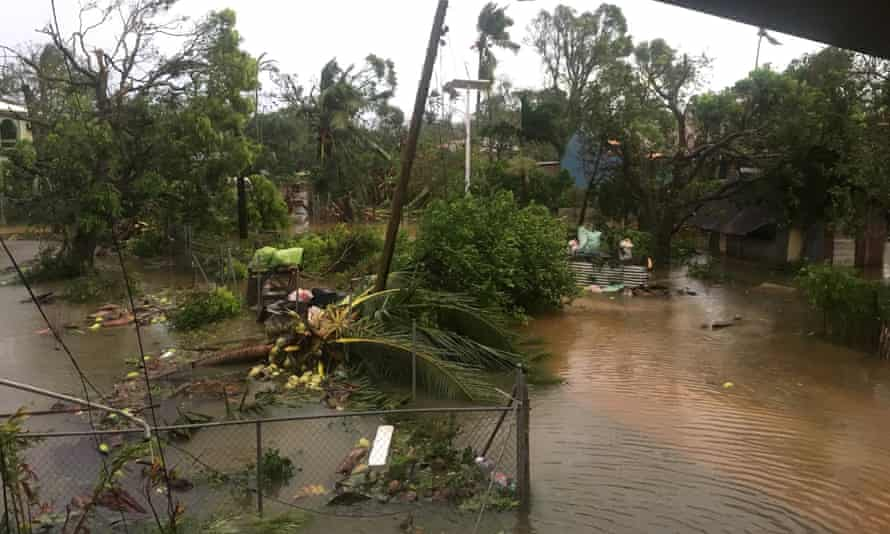 The aftermath of cyclone Gita is seen in Nuku'alofa, Tonga.
