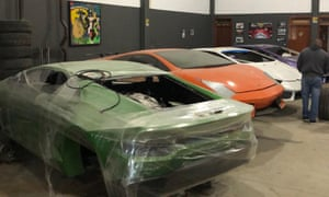 A photo released by police shows car moulds at the workshop in Itajaí.