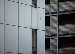 Cladding on the City Gate high-rise block in Manchester.
