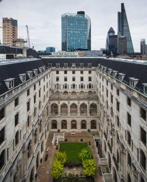 The Bank of England courtyard