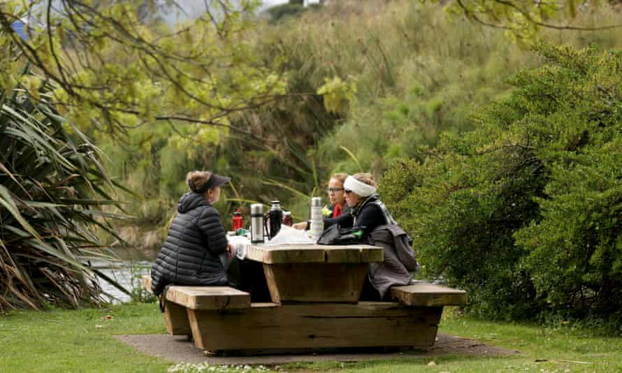Families reunite with a picnic at Western Springs in Auckland, New Zealand in October after Covid restrictions were eased.