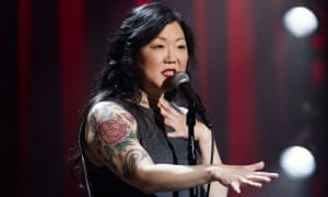 Margaret Cho on stage.
