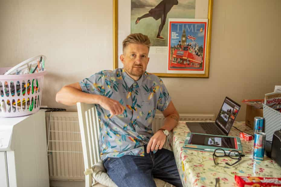 Christopher Spencer, also known as Cold War Steve, at home in Birmingham.