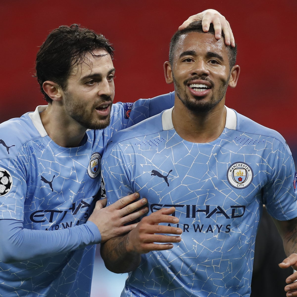 Manchester City produce dominant display to take charge of Gladbach tie |  Champions League | The Guardian