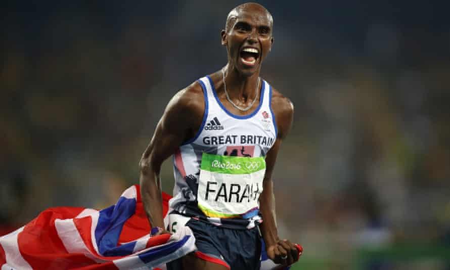 Mo Farah – sir Mo – celebrates after winning the men's 5000m in Rio