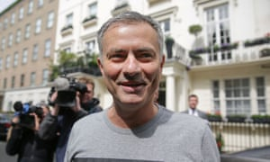 Manchester United's new manager. In London.