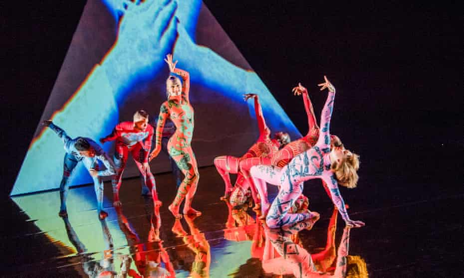 Shelley Eva Haden, centre, in MK Ultra by Rosie Kay Dance Company
