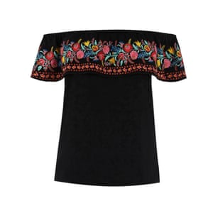 Embroidered, £35, oasis-stores.com.
