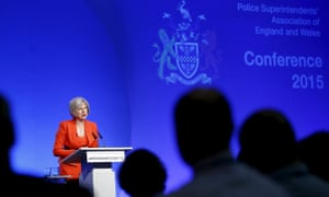 Theresa May speaks during the police superintendents' annual conference