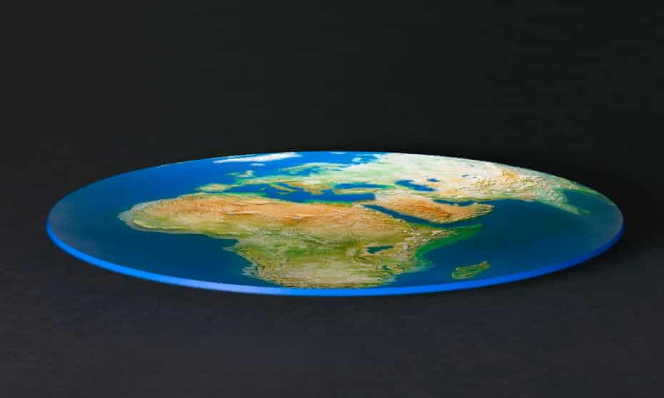 One dimensional globe, against black background