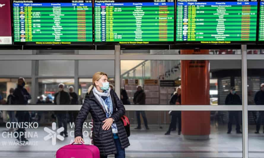 Traveller in airport