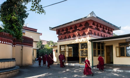 Monks at Kopan monastery