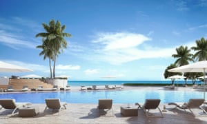 The planned pool at the Armani Casa project in Miami.