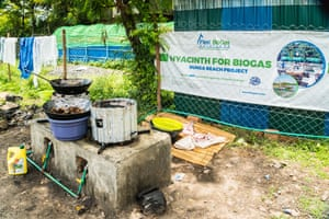 Biogas from water hyacinth in Dunga, Kisumu