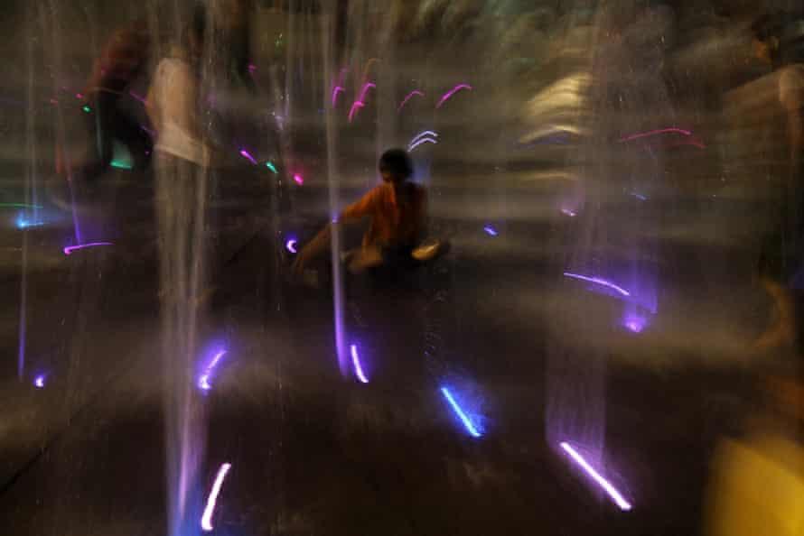 Lightshow, Tehran, Iran.