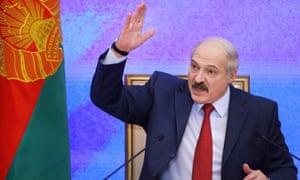 The Belarusian president, Alexander Lukashenko