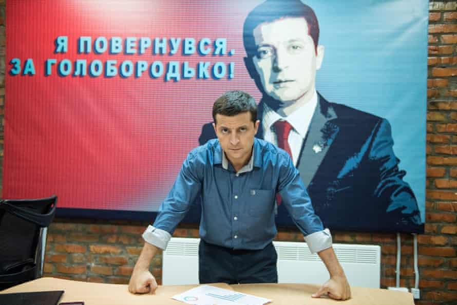 Stills from Ukranian tv show: Servant of the People featuring Volodymyr Zelenskiy