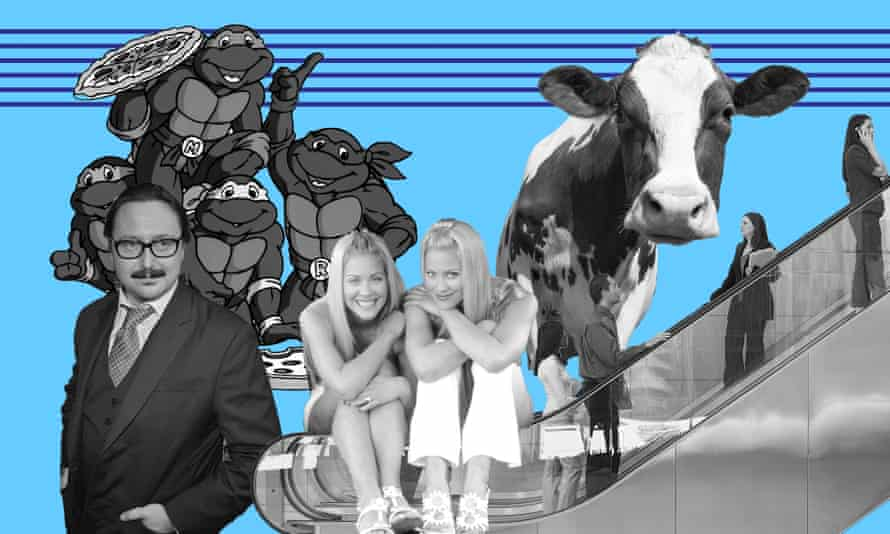 Podcasts on the Teenage Mutant Ninja Turtles, Judge John Hodgman, Sweet Valley High girls Brittany and Cynthia Daniel, People Movers on escalators and the Beef and Dairy Network, devoted to cows.
