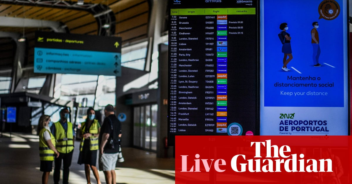 Travel stocks hit by Portugal 'green list' removal; markets brace for US jobs report – business live