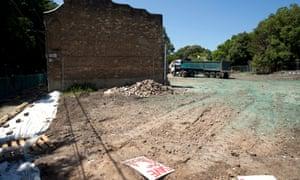 WestConnex demolition site