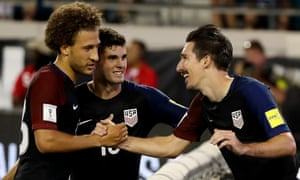 Fabian Johnson, Christian Pulisic and Sacha Kljestan. Johnson, born in Munich, has played all of his club career in Germany, but has 54 caps for USA.