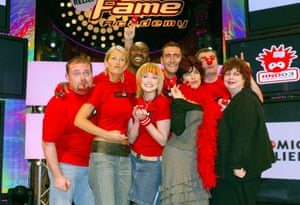 Kwame with the team from Fame Academy