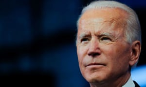 Joe Biden delivers a televised address after the electoral college formally confirmed his victory over Donald Trump in the 2020 US presidential election, in Wilmington, Delaware Monday.