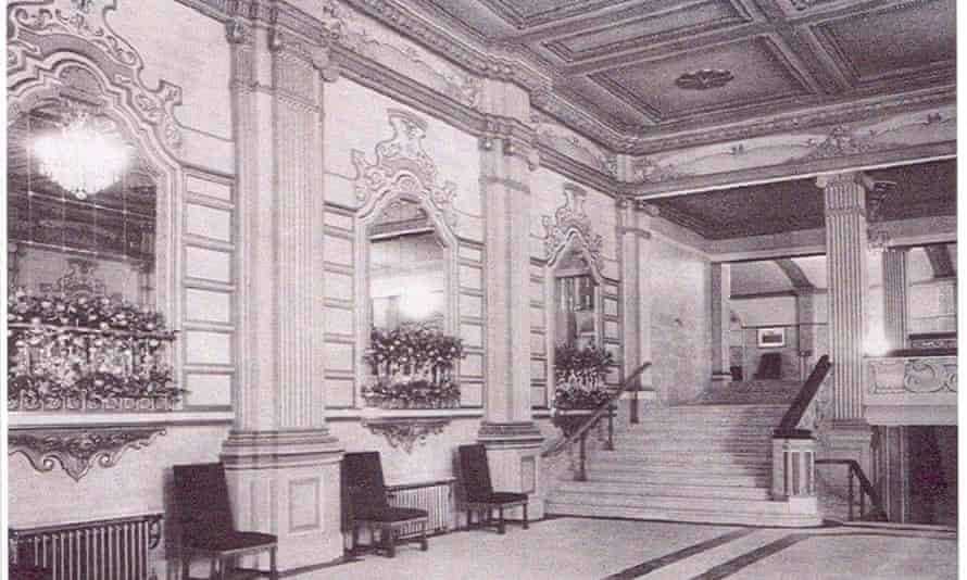 The interior of the Granada cinema foyer in 1930