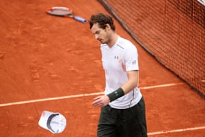 2016: Murray looks dismayed after losing to Novak Djokovic in the men's singles final match at Roland-Garros
