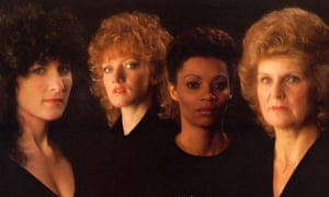 The Original Widows: Maureen O'Farrell as Linda Perelli, Fiona Hendley as Shirley Miller, Eva Mottley as Bella O'Reilly and Ann Mitchell as Dolly Rawlins.