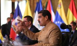 Washington slapped sanctions on Nicolas Maduro himself last week.