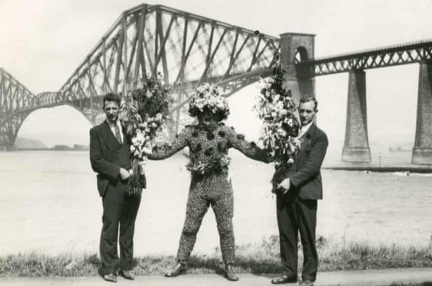 Burry Man at Forth Bridge.
