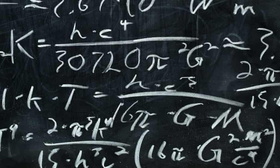 Blackboard with calculus