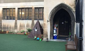 The Willcocks nursery school occupies the hall of Holy Trinity church in Kensington.