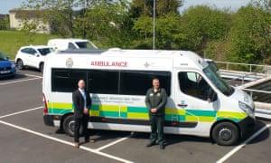 NHS Welsh Ambulance Fleet Manager Gavin Lane (on the left)