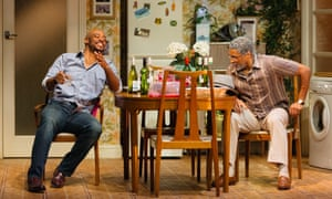 Oliver Alvin-Wilson and Ricky Fearon in Nine Night.
