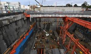 West Gate Tunnel construction