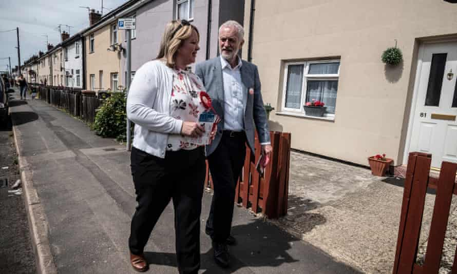 Jeremy Corbyn canvassing in Peterborough with Labour candidate Lisa Forbes