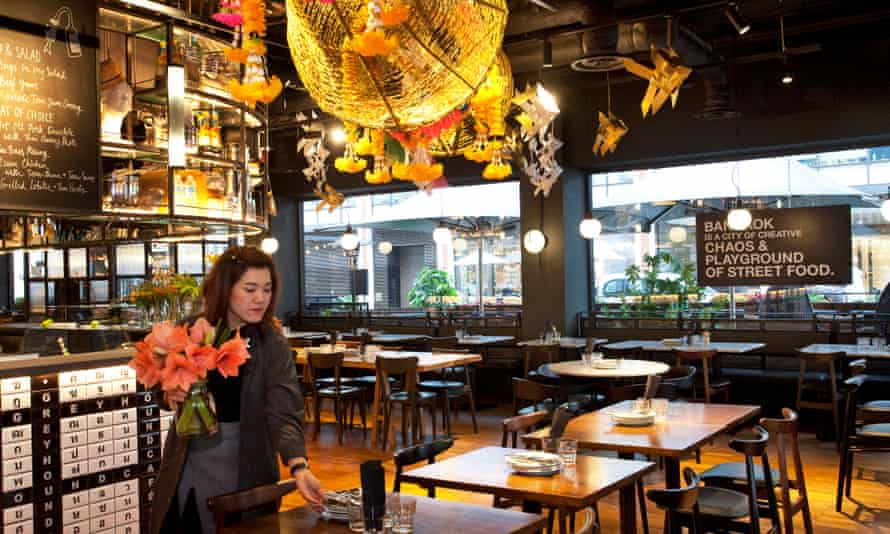 'The menu has food photographs and very lovely they are, too': the Greyhound Café, London W1.