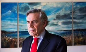 Former Labour party leader and prime minister Gordon Brown.